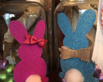 Easter Mason Jar-Bunny-Easter Gift-Mason Jars-Bunnies-Easter Jar-Easter for Teacher-Centerpiece-Easter Candy Jar-Candy Jar-Bunny Jar-Easter
