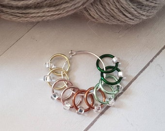 10 Piece No Snag Stitch Markers -Spring Mix Snag free Stitch Markers for Knitting -Knitter Accessories -Stitch Marker -Knit