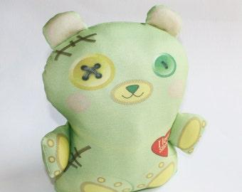 Halloween toy, Frankenstein toy bear, Organic cotton, Stuffed toy, baby toy, plush toy, teddy bear, Organic toy