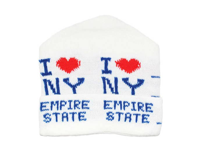 Vintage 1970's I Love New York / Empire State Knit Winter Hat, New Old Stock