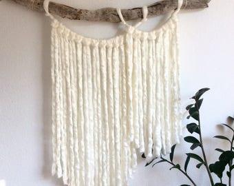 Charming Yarn Wall Hanging || Boho || Driftwood || Natural Home Decor ||