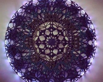 NEW Crochet Hoop Cover // Huggie // Mandala // Wall Art // Decoration // Ombre // Custom // Handmade // Hooper Gift // Hoop Dance // Flow