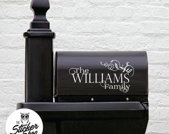 Mailbox Decal - Family Name