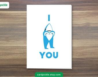 DOWNLOAD Printable Card - LEFT SHARK - Left Shark Card - I Love You Card - Happy Anniversary - Happy Birthday - Valentines Card