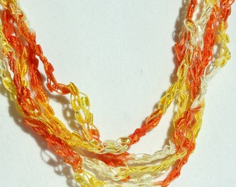 On Sale! Candy Corn - Crocheted Necklace