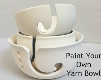 DIY Paint Your Own Yarn Bowl | Ceramic | Yarn Bowl | Choose your size |Handmade Ceramic from my Charleston, SC studio