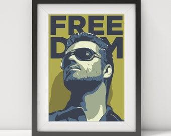 george michael, george michael poster, george michael art-print, music poster, 80's, pop star, pop art, quote poster, pop legend, prints