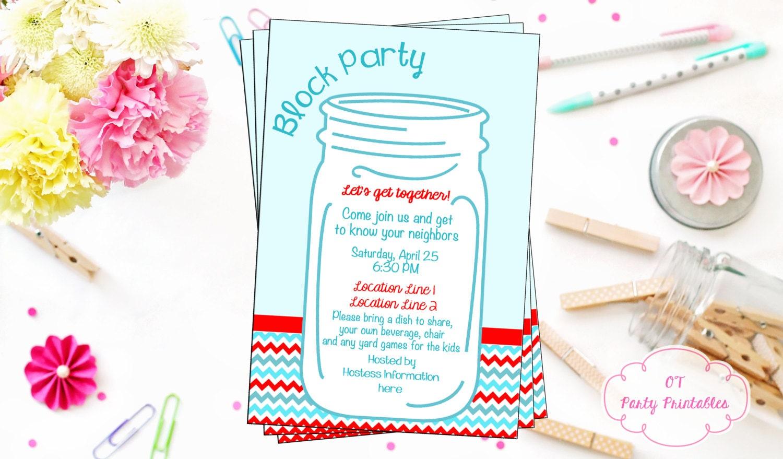 Großartig Block Party Einladung Vorlage Fotos - Beispiel ...
