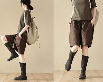 B02---High Quality Linen Shorts.