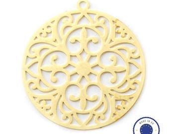 1 x pendant filigree round 20mm - made in Europe - gold