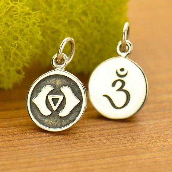 Sterling silver third eye chakra etched charm third eye charm sterling silver third eye chakra etched charm third eye charm chakra charm chakra jewelry 3rd eye jewelry yoga charm yoga jewelry from mozeypictures Image collections