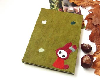 "Accordion Photo Album ""Bunny in the Meadow"" olive"