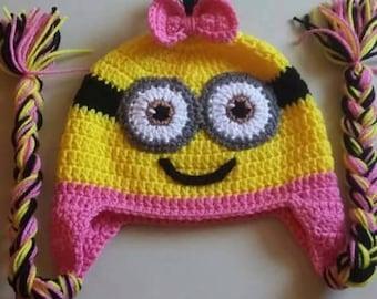 Crochet Minion Hats/Pink Minion Hat