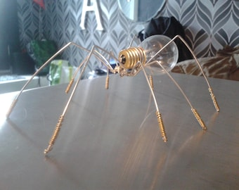 Light Bulb Metal Spider