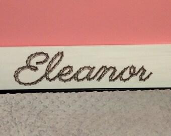 Custom String Art Wood Name Sign Wall Art Home Decor, Nursery, Girl's Room, Boy's Room-MADE TO ORDER