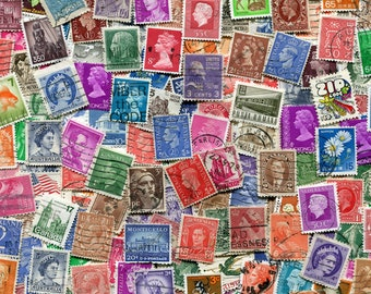 World Wide Stamps/Bulk Stamps/ Used Vintage World Wide Stamps