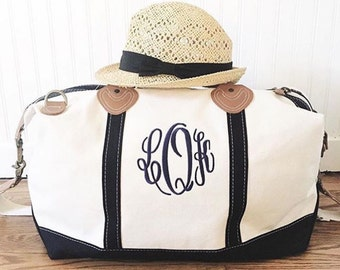 Personalized Womens Luggage - Canvas Weekender Bag Women - Monogram - Travel Accessories - Gift for Wife - Weekend Getaway Gift