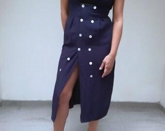 90s vintage dress, vintage buttons dress, dress 90s vtg