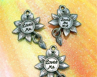 Loves Me... Loves Me Not - 4 pieces-(Antique Pewter Silver Finish)