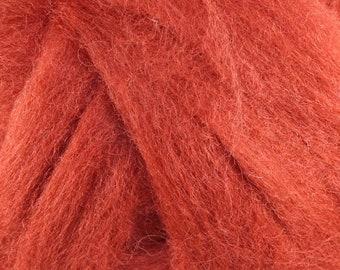 Wool Roving - 1oz - Russett