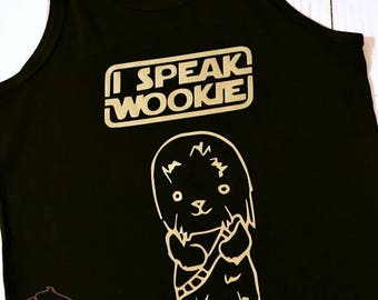 I Speak Wookie Vinyl Tank - Youth