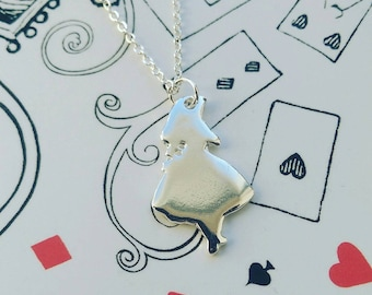 Alice in Wonderland Silhouette Necklace Mad Hatter Tea Party Jewellery