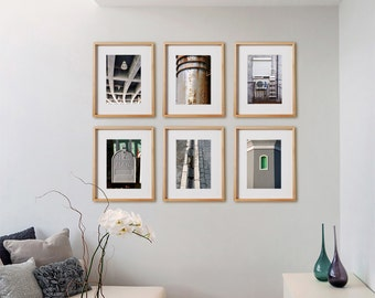 Grey 6V Print Collection.  Detail photography, gray, architectural, decor, wall art, artwork, large format photo.