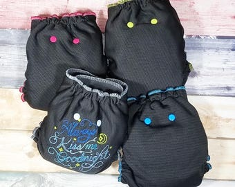 KB BULLET DIAPER - One Size Cloth Diaper Night Cloth Diaper - Hybrid Fitted - Windpro - Custom