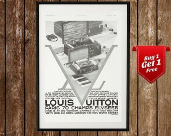 Louis Vuitton Vintage Poster , Louis Vuitton Magazine Ad,  French Fashion , Paris Fashion, Louis Vuitton Poster, Fashion Art