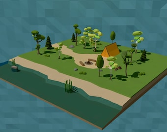 LowPoly Camping Scene