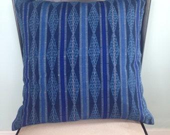 Guatemalan Blue Textile Pillow