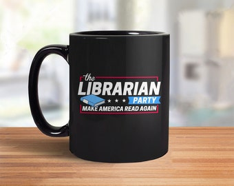 Nerd Gift for Geek Mug: Librarian Party   funny coffee cup, book mug, book lover gift for reader, librarian gift for her, reading quote mug