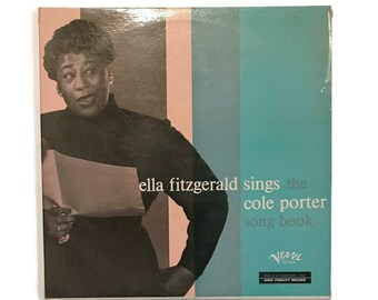 "Ella Fitzgerald, ""Sings the Cole Porter Song Book"", mono, vinyl record album, jazz LP, 1950s, deep groove, vocal, double album"