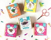 five piece badge making set, badge making, diy craft, craft kit, crafts, craft activities, gifts for her, party favours, party gifts