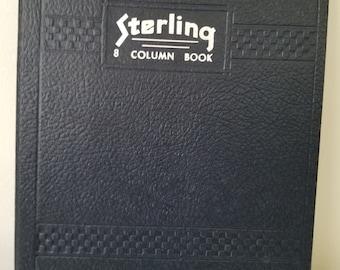 Blank Vintage Sterling 8 Column Ledger Book