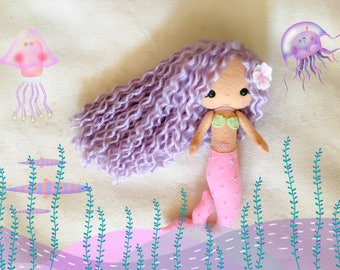MERMAID - Ariel - Felt Doll - Gingermelon Doll