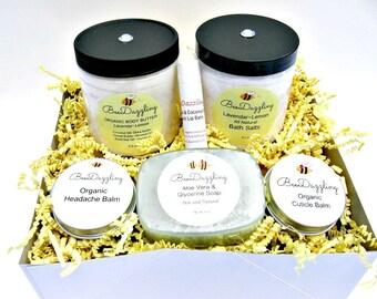 Birthday Spa Gift for Her, Spa Gift Set, Organic Spa Set, Spa Gift Box, Natural Spa Gift, Spa Gift Basket, Spa Kit Gift, Organic Skin Care