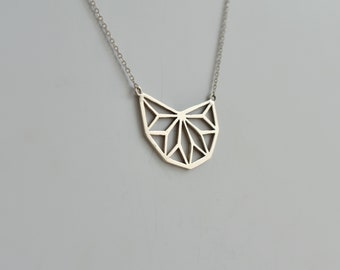 Silver Handmade Geometric Necklace