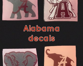 Alabama vinyl decals