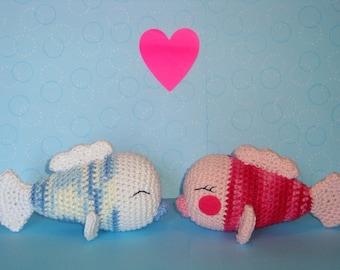 Kissing Fish PDF Crochet Pattern
