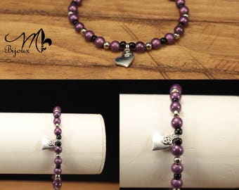 Bracelet with heart charm