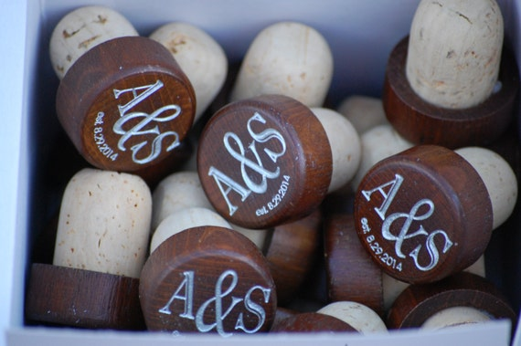 Wedding Gifts Wine: Wedding Wine Cork Gift Personalized Wedding Favors Engraved