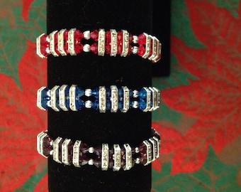 Crystal stripe bracelet