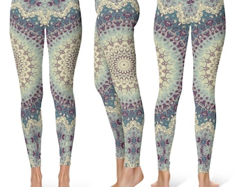READY TO SHIP - Printed Yoga Leggings Size Small, Womens Leggings, Yoga Tights, Yoga Pants