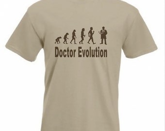 Evolution To Doctor t-shirt Funny physician T-shirt sizes Sm TO 2XXL