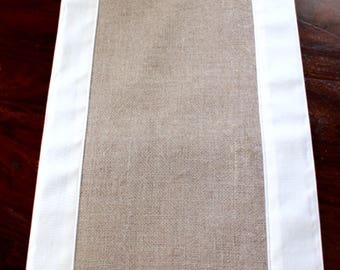 Modern Table Runner - Double Sided Burlap Table Runner - Modern Rustic Home Decoration - Living Beautifully