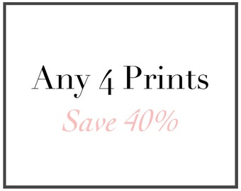 Custom Photo Collection- Any Four Fine Art Prints
