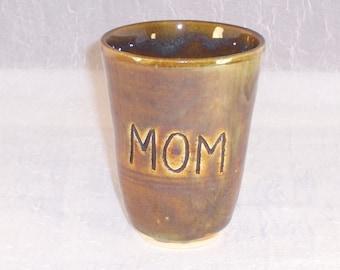 Mom Mug-Ceramic Tumbler -Ceramic Mug -Coffee Mug - Wheel Thrown Tumbler - Stoneware Coffee Mug -  Pottery Mug -Gift for Mom -Cup-Mug-Tumbler