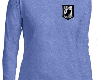 Men's Pow Mia Patch Pocket Print Burnout Tee T-Shirt PMP-PP-NL6110 3g4lAPwf