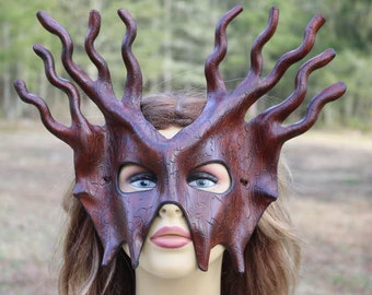 Leather bark mask